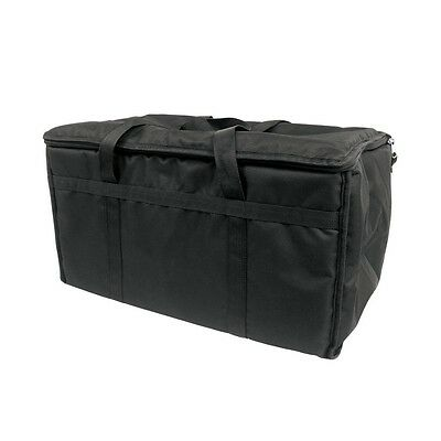 "23"" x 13"" x 15"" Black Insulated Nylon Food Delivery Bag / Pan Carrier  *"