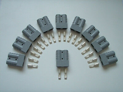 10 X Grey Genuine Anderson Plug Sb 50 Amp Battery Power Connector Bulk Resale