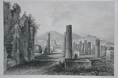 1830 POMPEII POMPEI Italy SET OF 6  Italian ENGRAVINGS NAPLES