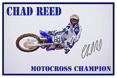 * Chad Reed * Autograph Print Of The Motorcross Champion *