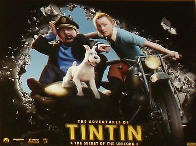 THE ADVENTURES OF TINTIN - 11x14 US Lobby Cards Set of 10 Steven Spielberg Herge