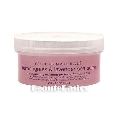 2 Cuccio Naturale Lemongrass & Lavender Sea Salts, 19.5 oz. - 25-1026 x2