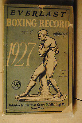 1927 Everlast Boxing Record-Cartoons by Will. Gould Everlast Sport Publishing