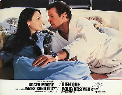 Roger Moore Carole Bouquet James Bond For Your Eyes Only 1981 Vintage Photo N°2