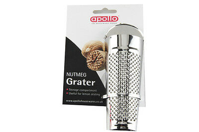 Brand New Apollo Nutmeg Grater Lemon & Lime Zester With Storage Compartment