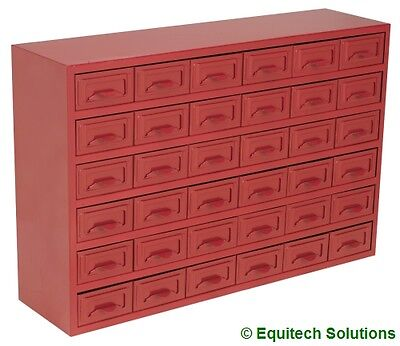 Sealey Tools APDC36 Metal Steel Parts Storage Cabinet Box 36 Drawer Red New