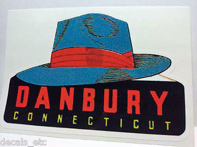 Danbury Connecticut Vintage Style Travel Decal / Vinyl Sticker, Luggage Label