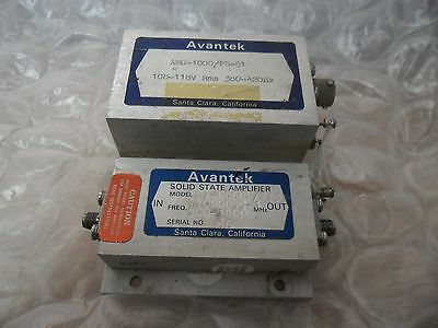 Avantek Solid State Amplifier SD7 + AMG-1000 /PS-51 500-1000 MHz 108-118V Rms