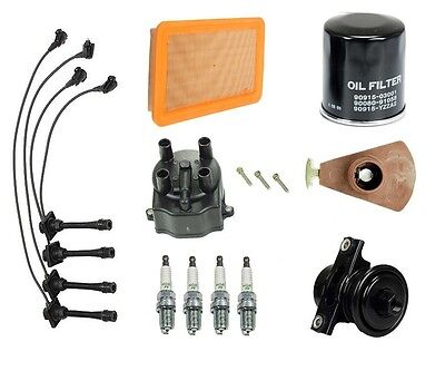 Geo Prizm 93-97 L4 1.8L Tune Up Kit Filters Cap Rotor Spark Plugs Wire