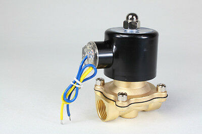 """2way2position AC110V 1/2"""" Electric Solenoid Valve Water Air N/C Gas Water Air"""