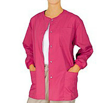 Medical MD Nursing Long Sleeve Scrubs Warmup Jacket  XS-S-M-L-XL-2XL-3XL sizes