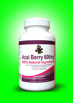 60 PURE ACAI BERRY Extreme Dietary Supplement Detox 100% Natural Ingredients