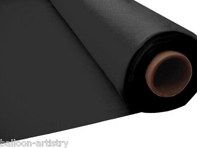 100ft BLACK Plastic Banquet Roll Table Cover Buffet