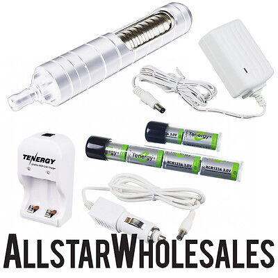 ThermoVape Portable Vaporizer White + FREE 4pc Grinder & Car Charger Thermo Vape