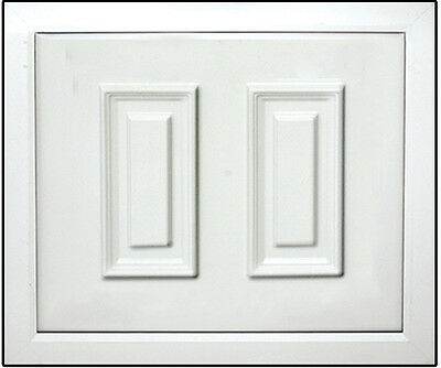 White uPVC Half Door Panel 24mm / 28mm. 790mm X 970mm. (Braid)