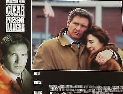 CLEAR AND PRESENT DANGER - 11x14 US Lobby Cards Set - Harrison Ford