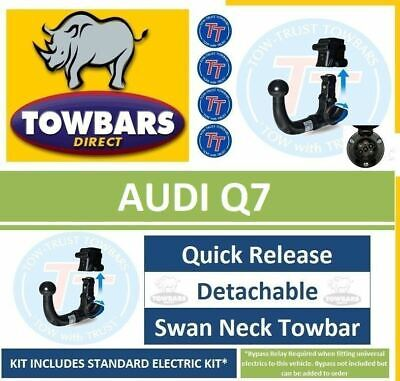 Detachable Swan Neck Towbar for Audi Q7 2006 to 2015 Tow Bar Tow-Trust TVW622VK