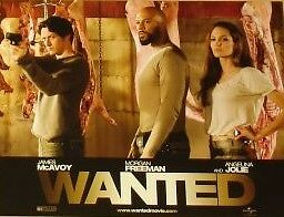 WANTED - 11x14 US Lobby Cards Set - Angelina Jolie, James McAvoy