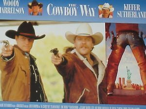 THE COWBOY WAY - 11x14 US Lobby Cards Set - Kiefer Sutherland, Woody Harrelson