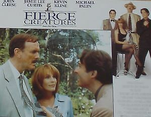 FIERCE CREATURES - 11x14 US Lobby Cards Set - Kevin Kline, Jamie Lee Curtis