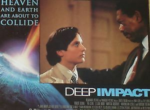 DEEP IMPACT - 11x14 US Lobby Cards Set - Elijah Wood, Morgan Freeman, Tea Leoni