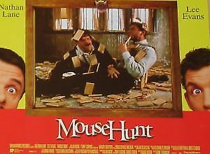 MOUSE HUNT - 11x14 US Lobby Cards Set - Nathan Lane, Lee Evans