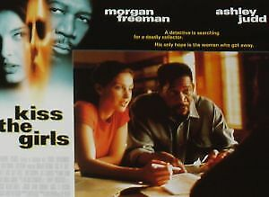 KISS THE GIRLS - 11x14 US Lobby Cards Set - Ashley Judd, Morgan Freeman