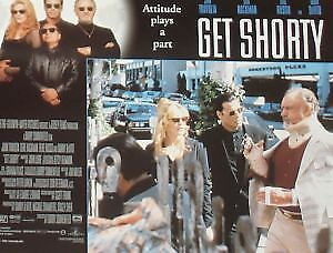 GET SHORTY - 11x14 US Lobby Cards Set - John Travolta, Rene Russo