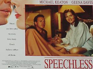 SPEECHLESS - 11x14 US Lobby Cards Set - Geena Davis, Michael Keaton