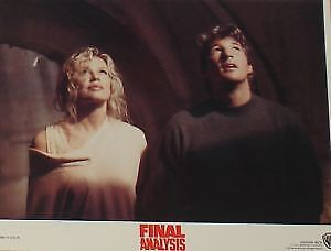 FINAL ANALYSIS - 11x14 US Lobby Cards Set - Richard Gere, Kim Basinger