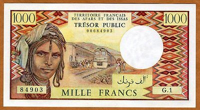 French Afars & Issas, 1000 francs, ND (1975), P-34, Rare in UNC