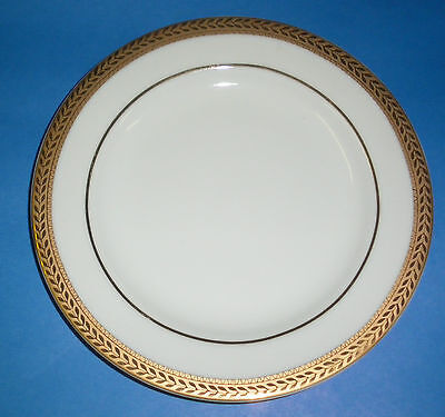 BLOCK MANCHESTER GOLD LAUREL PATTERN BREAD AND BUTTER  PLATE