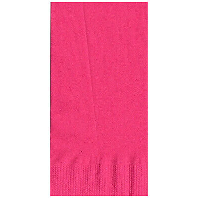 50 Plain Solid Colors Dinner Hand Towel Napkins Paper - Hot Pink