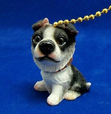 Adorable Precious Puppy Dog Border Collie Fan Pull / Ceiling Fan Pull New