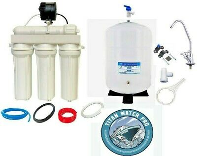 Reverse Osmosis Water Filter With Permeate Pump + Di  6 Stage 100Gpd Good Deal!!