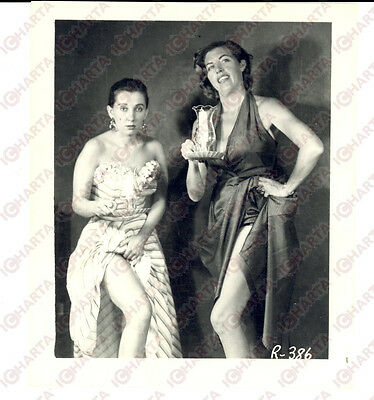 1965 ca USA - EROTICA VINTAGE Two mature women with a lamp *PHOTO