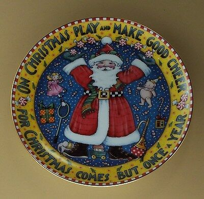 MARY ENGELBREIT Plate CHRISTMAS COMES BUT ONCE A YEAR  Santa Father Danbury Mint