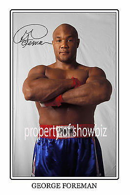 * GEORGE FOREMAN * Large signed poster of boxing legend. Great MEMORABILIA!