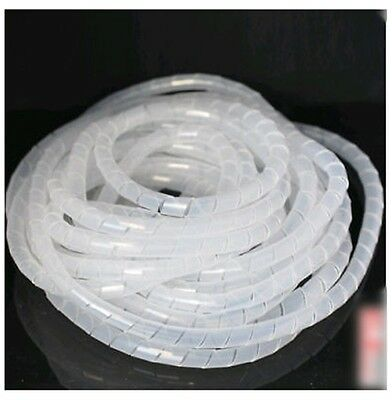 WT07# 16.4FT (5M)  Spiral Cable Wire Wrap Tube Computer Manage Cord 16mm clear