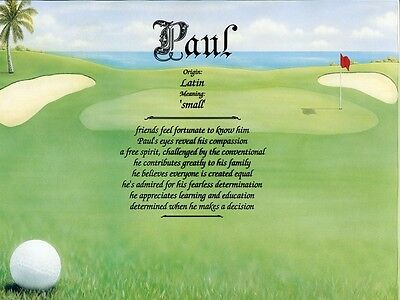 """""""Golf"""" Name Meaning Print Personalized (Sports)"""