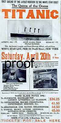 Titanic White Star Line  2nd Voyage That Never Was Ad Poster Memorabilia Cruise