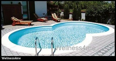 swimmingpool swimming pool komplettset stahlwand schwimmbecken oval einbauset. Black Bedroom Furniture Sets. Home Design Ideas