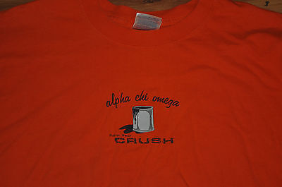 T-SHIRT XTRA LARGE ALPHA CHI OMEGA CRUSH PARTY SORORITY PAINT YOUR CRUSH