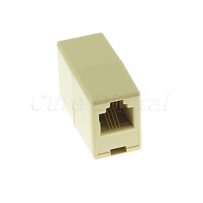 RJ11 Coupler Telephone Phone Cable Line Adapter Plastic Connector