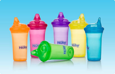 1 NEW Nuby Sippy Cup No Spill - Pick Your Colors!