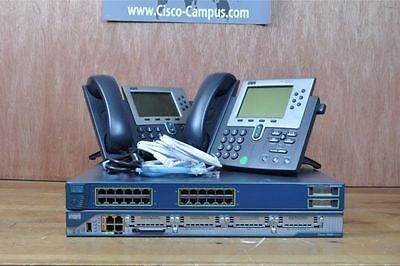 CISCO CCNA CCNP VOICE LAB with 2801 CME 8.6 3550 POE Switch 2x 7960 IP PHONE