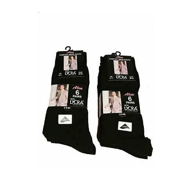 12 Pairs of Mens Black Cotton Rich Formal Socks with Lycra Uk size 6-11