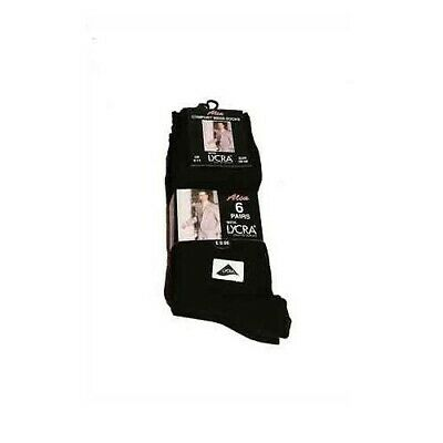 6 Pairs of Mens Black Cotton Rich Formal Socks with Lycra Uk size 6-11