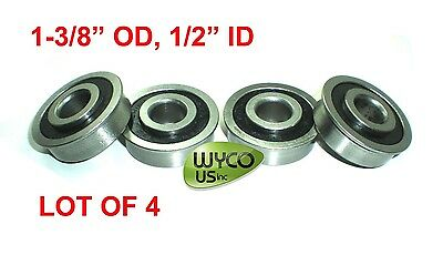 """LOT OF 4, FLANGED BEARINGS 1-3/8"""" OD x 1/2"""" ID, CARTS, SHELVES & OTHER PROJECTS"""