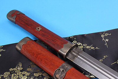 Damascus steel handmade blade annatto scabbard Chinese sword sale tang dynasty